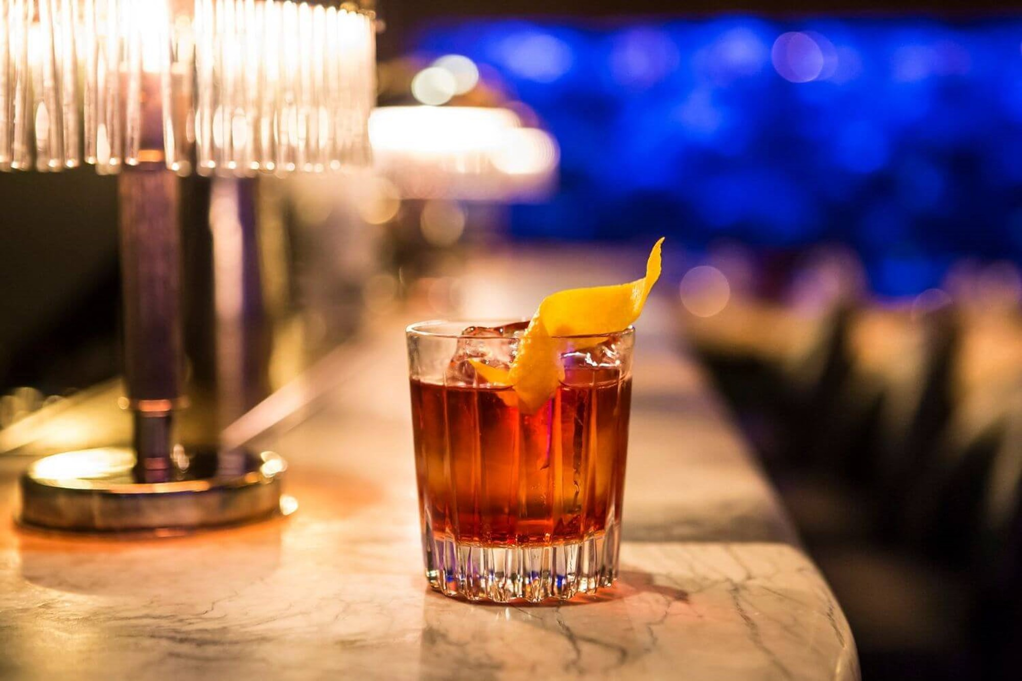 Whisky cocktail at the Sexy Fish bar in Mayfair
